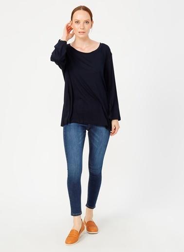 Fabrika Comfort Fabrika Comfort O Yaka Truvakar Düz Kadın Tshirt Lacivert